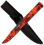 RED SURVIVAL KNIFE