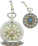 Thunderbird Pocket Watch      Brand: Infinity     Item Number: IW44      Gold face with gold hands and image of Native Americans.