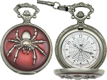 Spider Pocket Watch      Brand: Infinity     Item Number: IW48      White face with black hands and spider web image