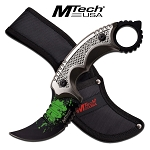 MTech USA MT-20-61GY FIXED BLADE KNIFE 9.25