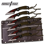 PERFECT POINT PP-023-6 THROWING KNIFE SET 7.5