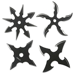 PERFECT POINT RC-107-4B THROWING STAR SET 2.5