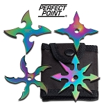 PERFECT POINT RC-107-4R THROWING STAR SET 2.5