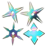 PERFECT POINT RC-108-4R THROWING STAR SET 2.5