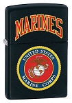 U.S. Marines Zippo Lighter - Black Matte