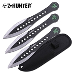 Z HUNTER ZB-163-3BK THROWING KNIFE SET 7.5