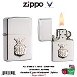 Navy Anchor Emblem Brushed Chrome Zippo Lighter